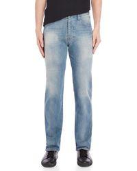Armani Jeans - Medium Wash Regular Fit Jeans - Lyst