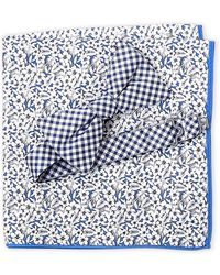 Tommy Hilfiger - Gingham Bow Tie & Tropical Pocket Square Set - Lyst