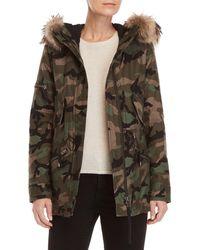 Sam. - Real Fur Trim Hooded Camo Coat - Lyst
