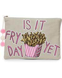 Twig & Arrow - Is It Fry Day Yet? Pouch - Lyst