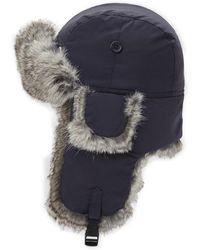 f12eb1fec6d Lyst - Crown Cap Rabbit Fur Aviator Winter Hat in Natural for Men