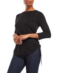 Cable & Gauge - Three-quarter Sleeve Drawstring Top - Lyst
