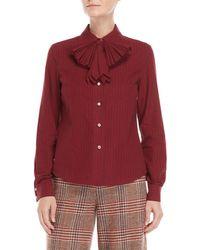 Manoush - Stripe Bow Long Sleeve Shirt - Lyst