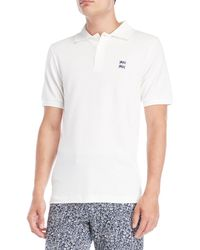 Le Mont St Michel - Off-white Short Sleeve Polo - Lyst