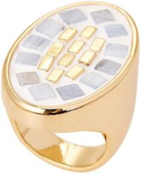 Lulu Frost - Gold-tone Mosaic Ring Size 7 - Lyst