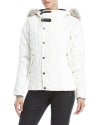 Sorel - Aylwin Real Fur Trim Hooded Down Jacket - Lyst