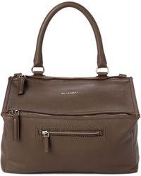 eedb97b1331 Givenchy Antigona Small Sugar Goatskin Satchel Bag in Brown - Lyst