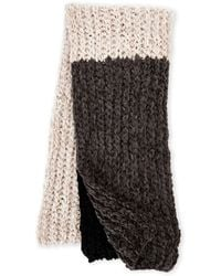 Collection 18 - Color Block Chenille Knit Scarf - Lyst