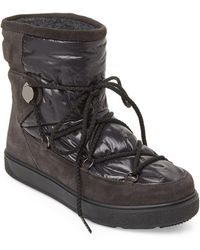 Moncler - Black Shimmer Moon Boots - Lyst