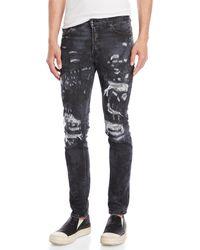 Marcelo Burlon - Arke Slim Fit Distressed Jeans - Lyst
