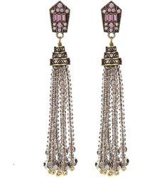 Heidi Daus - Windsor Beaded Tassel Earrings - Lyst