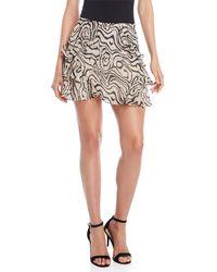 10 Crosby Derek Lam - Leopard Ruffle Trim Chiffon Skirt - Lyst
