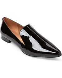 CALVIN KLEIN 205W39NYC - Black Elin Patent Pointed Toe Loafers - Lyst