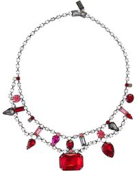 Steve Madden - Hematite-tone Collar Necklace - Lyst