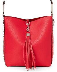 Urban Expressions - Red Adele Studded Satchel - Lyst
