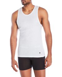 Lucky Brand - 3-Pack Ribbed Tanks - Lyst