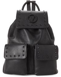 Valentino By Mario Valentino - Simeon Studded Preciosa Dollaro Leather Backpack - Lyst
