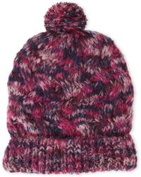 Threads For Thought - Mixed Knit Pom-Pom Beanie - Lyst