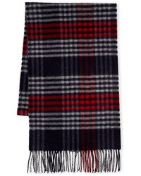 Johnstons - Plaid Cashmere Scarf - Lyst