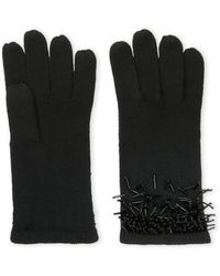 BCBGMAXAZRIA - Knit Gloves With Ombre Beading - Lyst