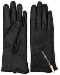 Adrienne Vittadini | Cashmere-Lined Leather Zip Gloves | Lyst