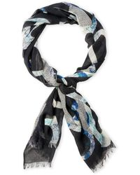 Pashma - Silk-Blend Printed Woven Scarf - Lyst