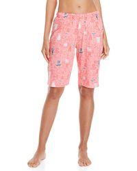 Hue - Printed Bermuda Pajama Shorts - Lyst