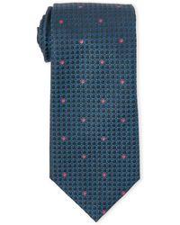 Missoni - Teal Square Dot Silk Tie - Lyst