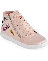 1c3c9cddf06f Madden Girl - Blush Cindy Satin High Top Sneakers - Lyst
