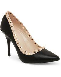 Wild Diva - Black Lovisa Pointed Toe High Heel Pumps - Lyst