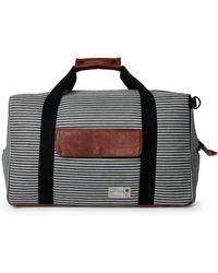 Hex - Black Striped Drifter Duffel Bag - Lyst