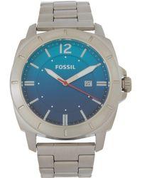 Fossil - Bq2344 Silver-tone & Aqua Watch - Lyst