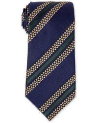 Missoni - Navy Striped Silk Tie - Lyst