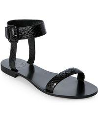 Aperlai - Woven Flat Sandals Black - Lyst