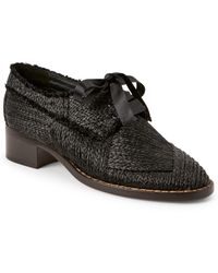 Creatures of the Wind - Black Dirk Raffia Low Heel Oxfords - Lyst