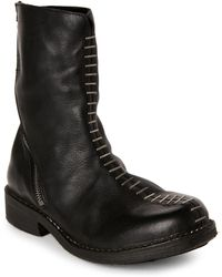 Masnada - Black Staple-Front Zip Boots - Lyst