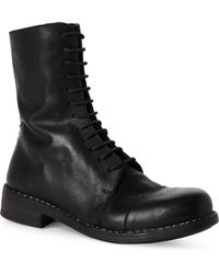 Masnada - Stivale Lacci Black Leather Boots - Lyst
