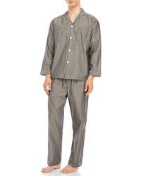 Geoffrey Beene - Long Sleeve Shirt & Pajama Pants Set - Lyst
