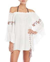 Surf Gypsy - Embroidered Cover-up Tunic - Lyst