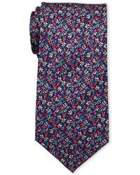 Pierre Cardin - Scatter Floral Print Silk Tie - Lyst