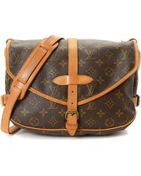 fb879d04d3ad Lyst - Louis Vuitton Monogram Saumur 30 Messenger Bag - Vintage in Brown
