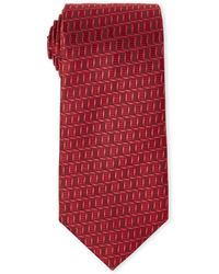 Missoni - Red Small Square Patterned Silk Tie - Lyst