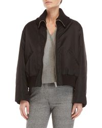 Hache - Black Padded Bomber Jacket - Lyst