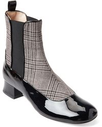 4de73dcedcc3b Camilla Elphick Houndstooth Patent Leather Booties