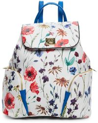 CXL by Christian Lacroix - White & Blue Lucie Floral Backpack - Lyst