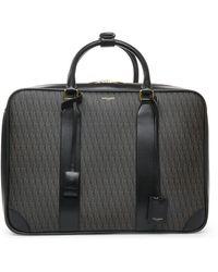 "Saint Laurent - Classic Toile Monogrammed 12"" Luggage Bag - Lyst"