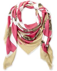 Boutique Moschino - Snake-effect & Hearts Scarf - Lyst