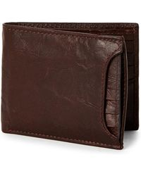 Fossil - Brown Ingram Sliding Two-in-one Leather Wallet - Lyst