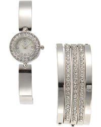 Adrienne Vittadini - Adst1264S165 Silver-Tone Watch & Bracelet Set - Lyst