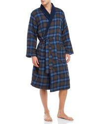 Original Penguin - Flannel Fleece Robe - Lyst